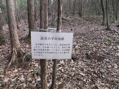 秀吉本陣(段状の平坦地群