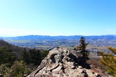 唐沢山城 天狗岩からの景色