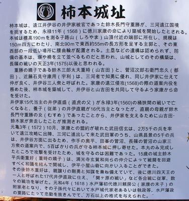 柿本城 説明板