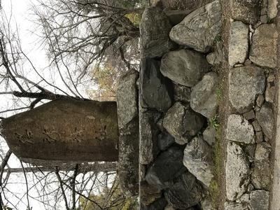 公園の中にある城址の碑