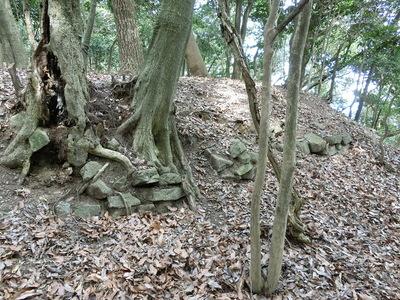 腰曲輪の石垣