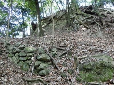 二の丸周囲の石垣