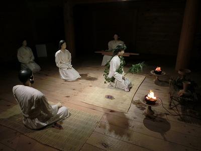王の宮殿での祭祀