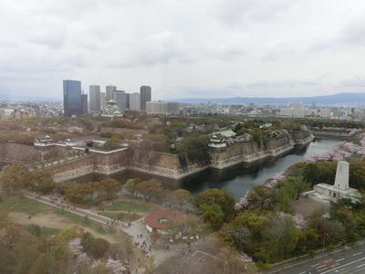 大阪歴史博物館からの眺め