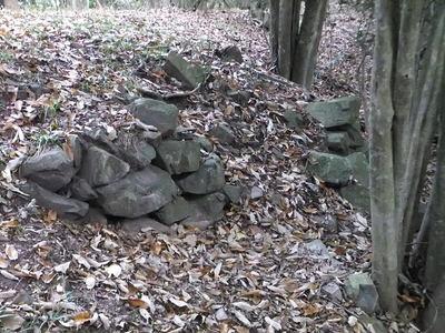 長屋の段の側面部石垣