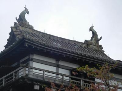 天守屋根のズーム