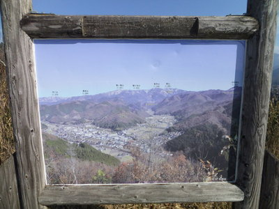 山頂から北東側眺望案内
