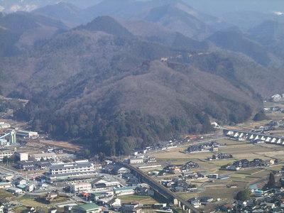 竹山城から(小原)山王山城