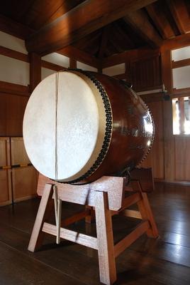 太鼓櫓に置いてある太鼓