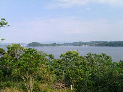 岬の展望台からの景色