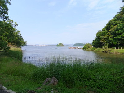 入江の船着場