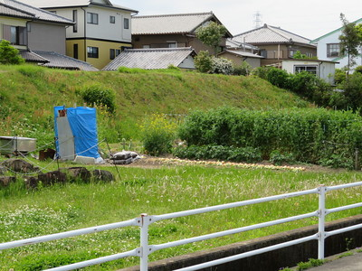 平島一之門付近の三ノ丸土塁