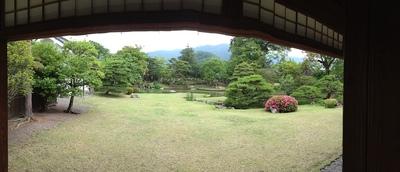 真田邸の庭園(パノラマ)