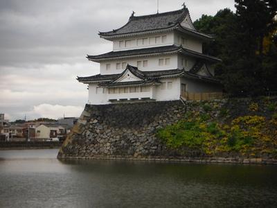 西北隅櫓(清須櫓)西側より