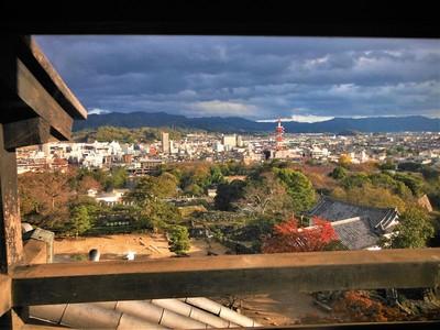 天守より彦根城下の町並み(南側方向)