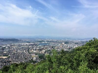 山頂(本丸跡)からの風景