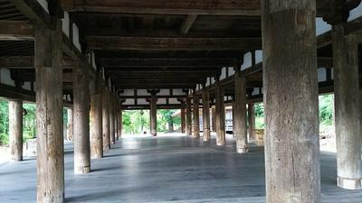 新宮熊野神社長床(国重要指定文化財)内部