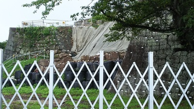 月見櫓跡の石垣解体調査中2