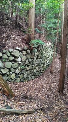 虎口付近の石垣