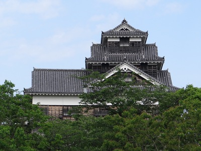 飯田丸五階櫓(城彩苑から)