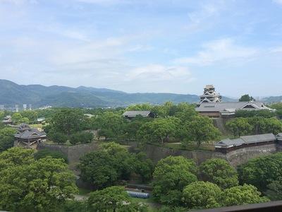 熊本城本丸(市役所展望ロビーから)