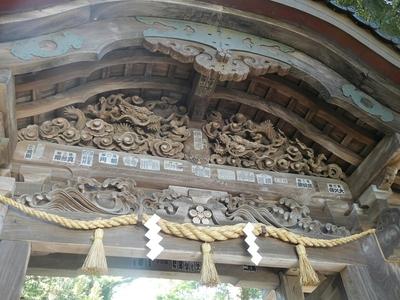 木彫りの彫刻(ズーム撮影)