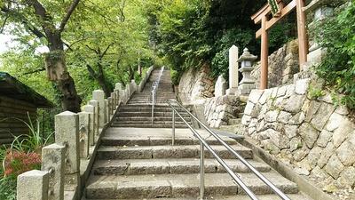 金ヶ崎宮への石段