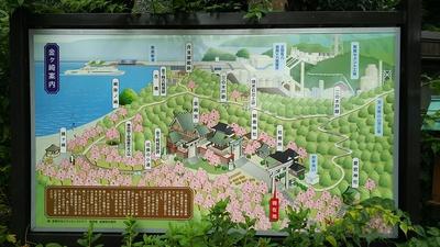 金ヶ崎宮の案内図