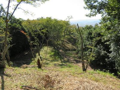 堀切跡から西側の曲輪群
