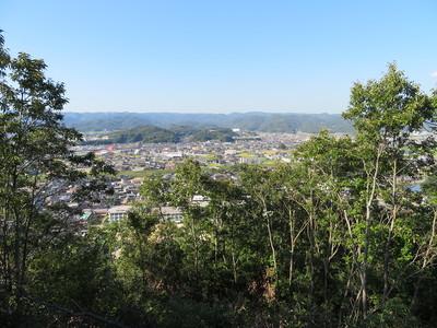 鬼門櫓跡から北側の景色