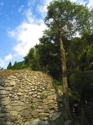 南水門横の石垣