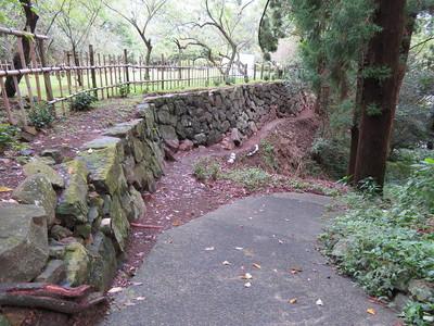 北大手門の隣の曲輪の石垣
