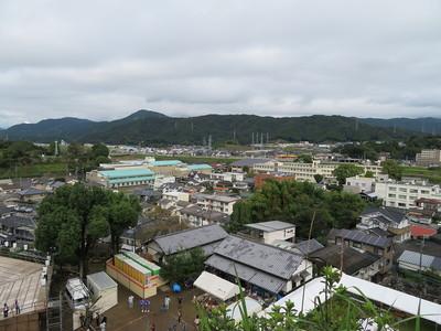 本丸跡からの眺望(北西)