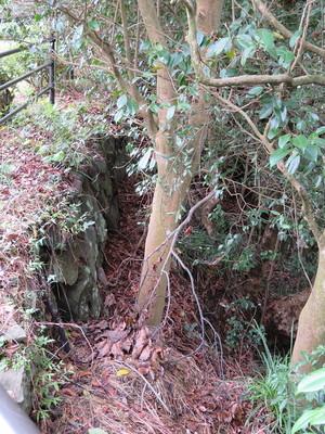 二階櫓跡の石垣