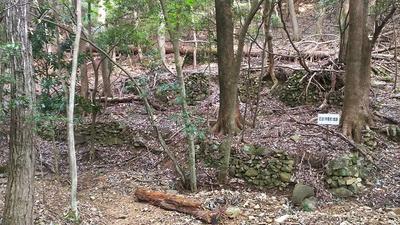 侍屋敷跡の石垣