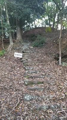 本丸跡への石段