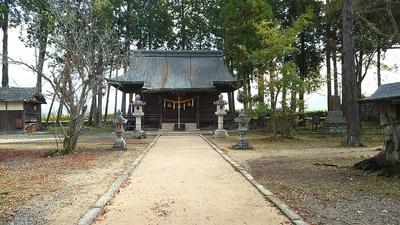本丸跡にある青山神社
