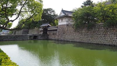 大手門・水堀風景(北西)