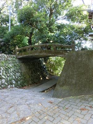 二俣城 本丸と北廓の間の堀切部分