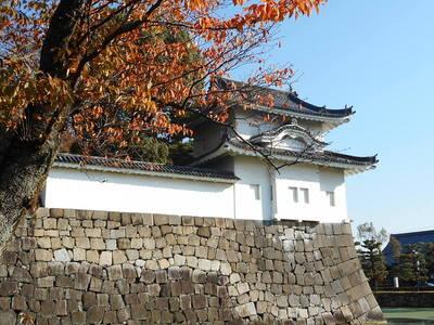 西南隅櫓と紅葉