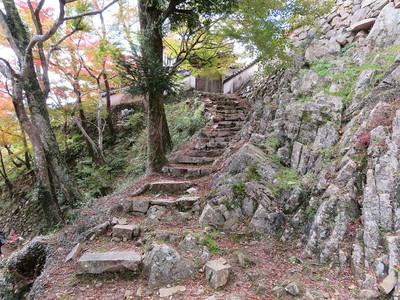 腕木御門への石段