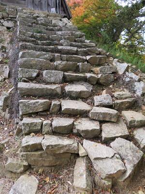 二重櫓入口へあがる石段
