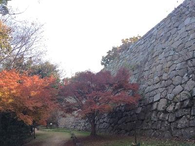 明石城本丸北側石垣