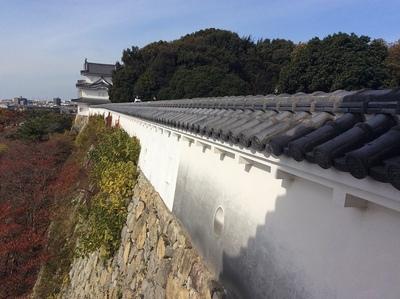 明石城巽櫓から見た坤櫓