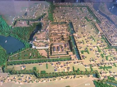 明石城坤櫓にある模型