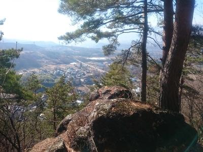 天白城の物見岩