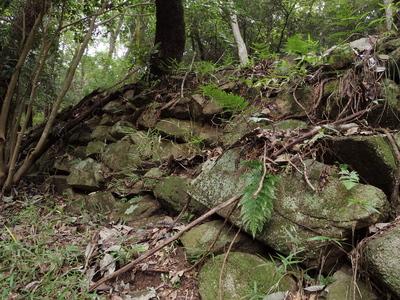 石垣(侍屋敷上の壇)
