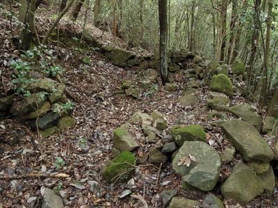 石塁に囲まれた区画(侍屋敷)