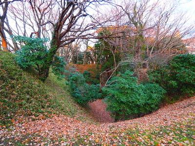 二の門付近の空堀