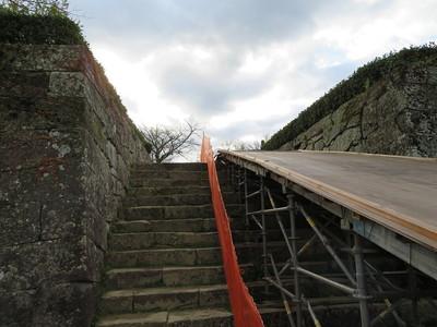 櫛形門(一の門)跡
